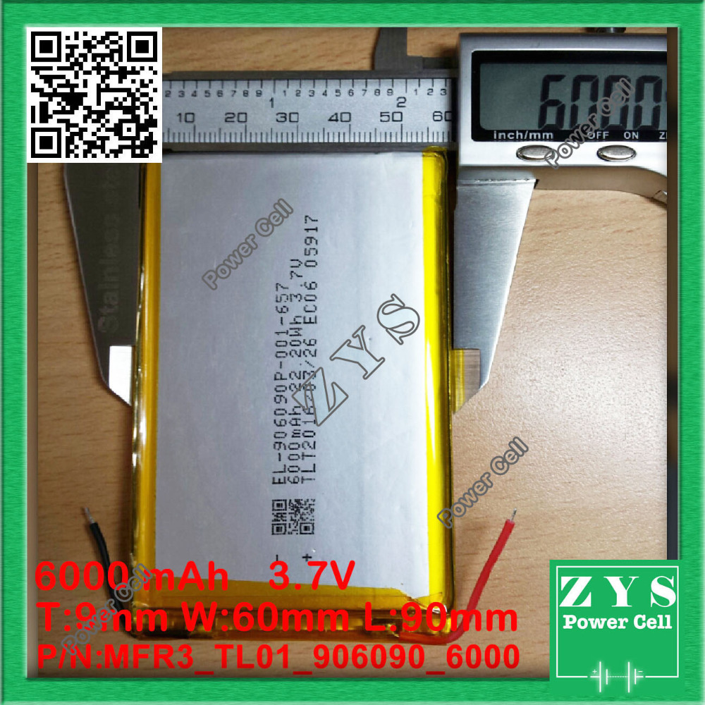 Safety Packing (Level 4) <font><b>3.7V</b></font>,<font><b>6000mAH</b></font>,[906090] PLIB; polymer lithium ion <font><b>battery</b></font> / Li-ion <font><b>battery</b></font> <font><b>for</b></font> <font><b>tablet</b></font> pc,power bank,Ebook image