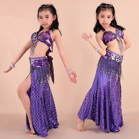 Girls Kids Belly Dance Costume Outfit Bollywood Indian Oriental Dance Danza Del Vientre Belly Dance Costume