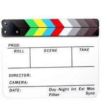 Professionele Kleurrijke Clapperboard Klepel Board Acryl Dry Erase Directeur Tv Film Film Actie Slate Clap Handgemaakte Cut Prop