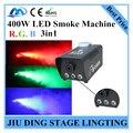 400 Вт LED Дым машина RGB 3in1, полный цвет машина тумана профессиональный сценического освещения DJ света