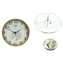 2 Colors 20mm Round Vintage Clock Dial Brooches Pins Women Corsage Badge Suit Dress Coat Accessories