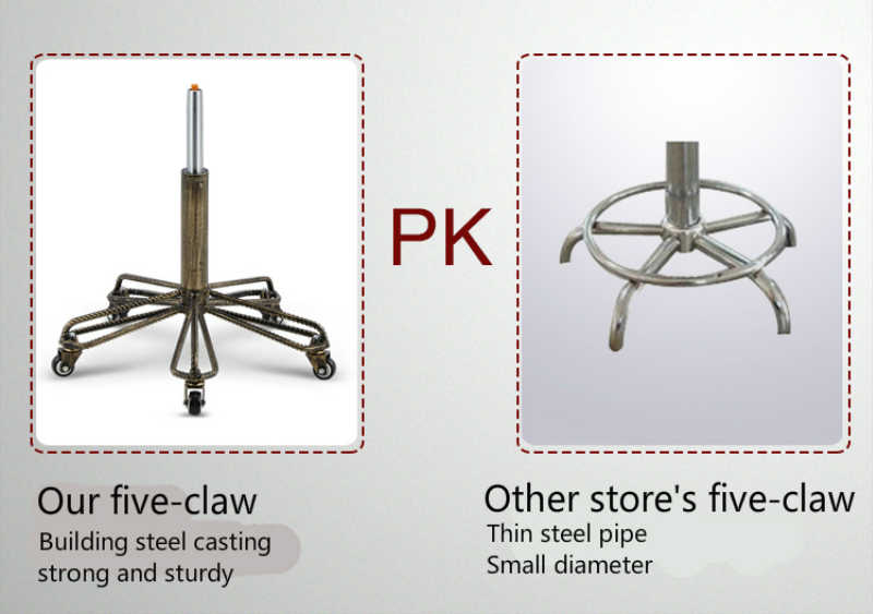 Классический стиль стальной стул Лифт вращающийся стул для домашнего и коммерческого использования со спинкой высокого качества PU пять зубьев Ремесло колеса сиденья