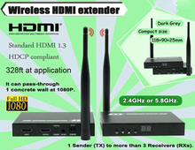 2.four/5.8GHZ 330ft WIFI + Loop Out + IR + HDMI Sign Over Wi-fi Extender 1080P Wi-fi HDMI Video Transmitter Sender Receiver