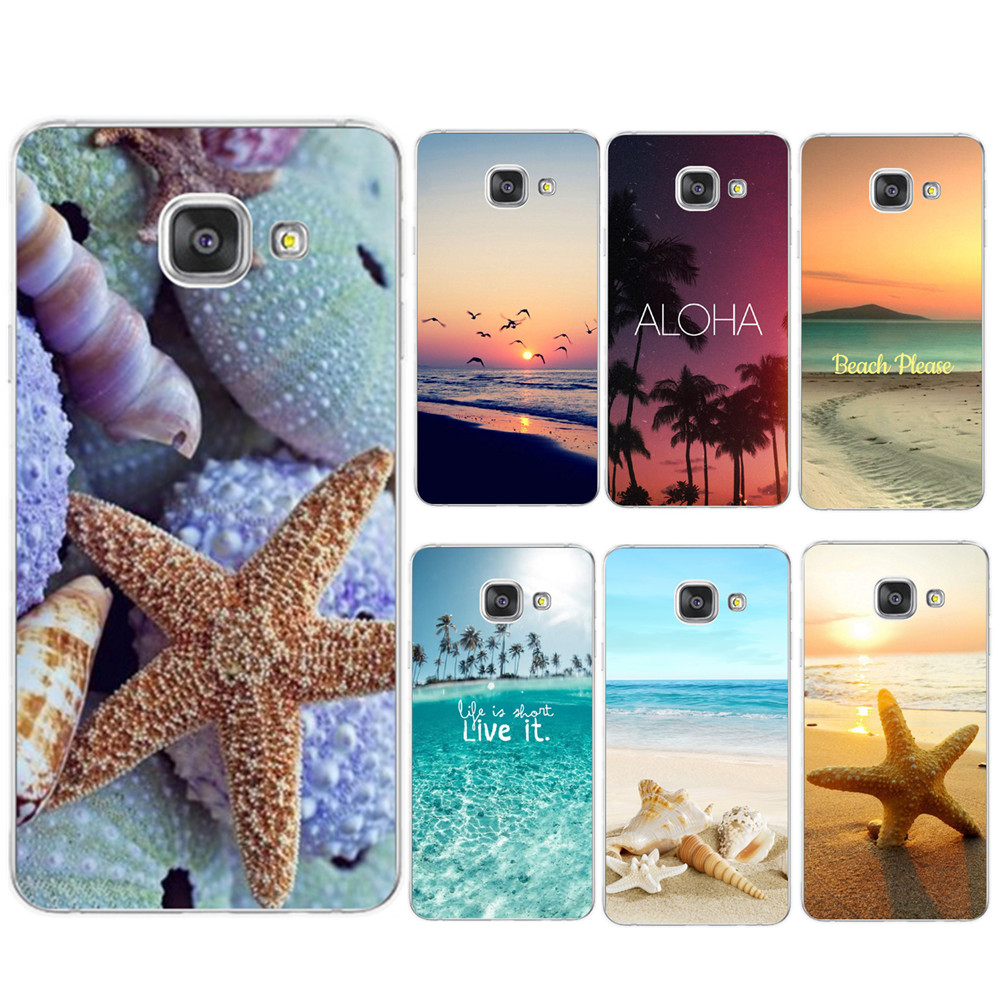 Coque For <font><b>Samsung</b></font> Galaxy S6 <font><b>S7</b></font> <font><b>Edge</b></font> S8 S9 Plus J3 J5 J7 A5 2016 2017 <font><b>Case</b></font> TPU <font><b>Silicon</b></font> Cover Beach Starfish Landscape Phone <font><b>Case</b></font> image