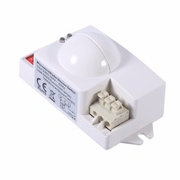 1pc Smart Motion Sensor Microwave Radar Sensor Switch Auto Induction Detector For Panel Ceiling Light Fluorescent