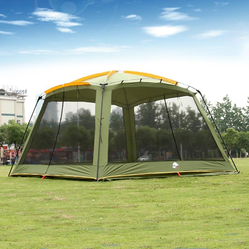 Août Guide Série Ultralarge 5-8 Personne Grand Gazebo Tente De camping Tente De plage Soleil Abri Barraca De Acampamento Tente