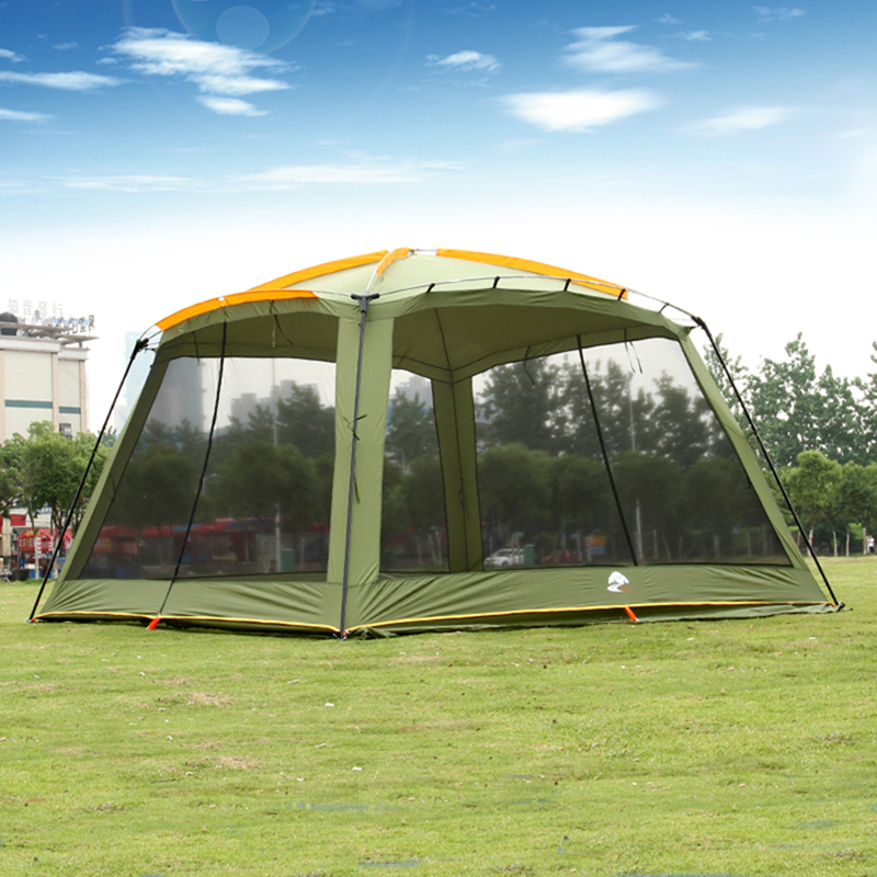 August Guide Series Ultralarge 5-8 Person Large Gazebo Camping Tent Beach Tent Sun Shelter Barraca De Acampamento Tente trackman 5 8 person outdoor camping tent one room one hall family tent gazebo awnin beach tent sun shelter family tent