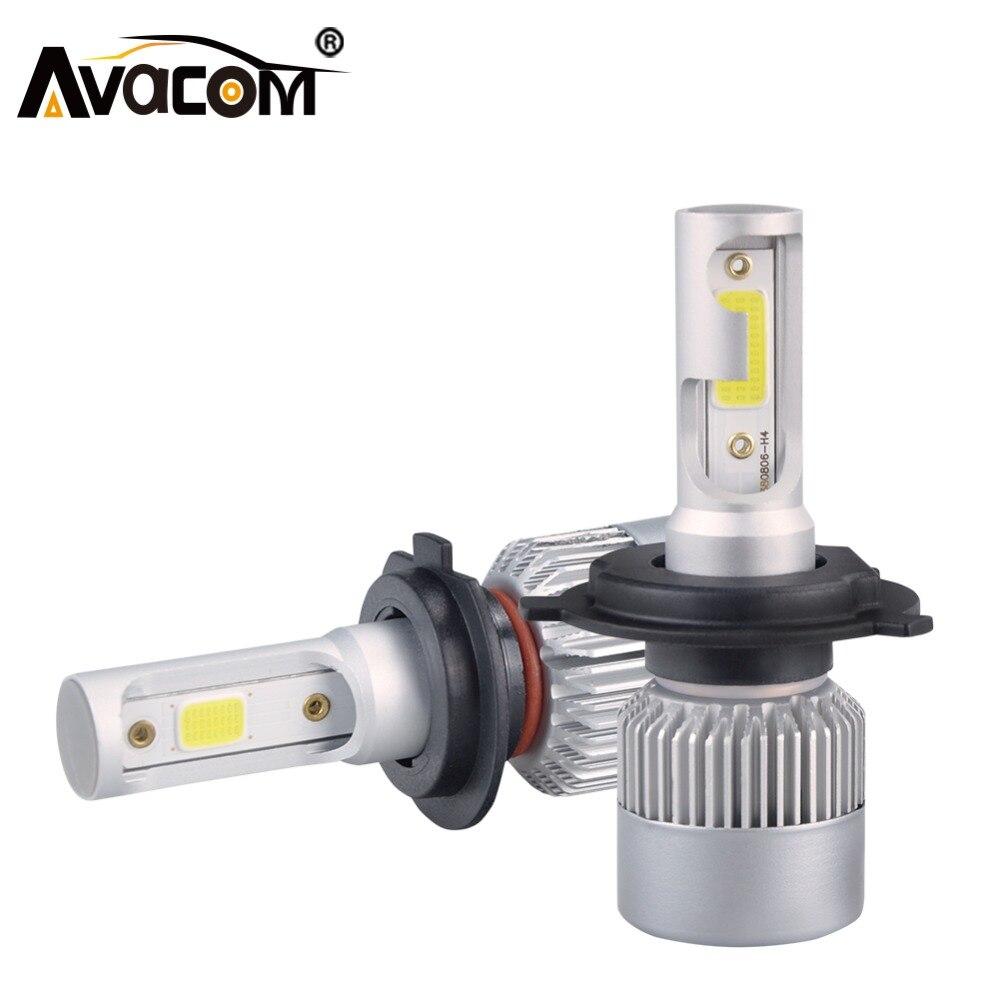 H7 H1 LED Phare De Voiture Ampoules H11 H8 H9 LED Auto Lampe 9005 HB3 9006 24 v 72 w 8000Lm 6000 k COB 12 v LED HB4 H4 Voiture Ampoule LED Lumière