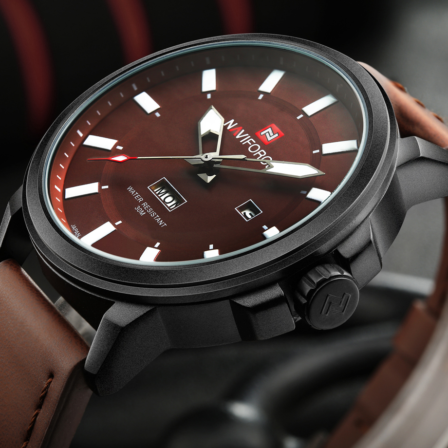 NAVIFORCE Brand Luxury Fashion Casual Quartz Wristwatches Water Resistaint Analog Clock Man Military Watch Men Relogio