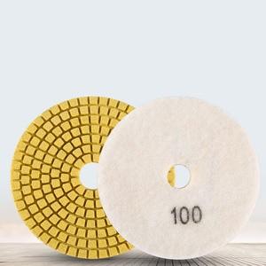 Image 3 - Diamond Polishing Pads Kit 4 inch 100mm Wet Dry Granite Stone Concrete Marble Polishing Grinding Discs Set