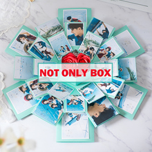 Custom Photo Album With Free 63 Photos DIY Surprise Love Explosion Box Paper Gift Box for Valentine's Day Wedding Birthday Gift