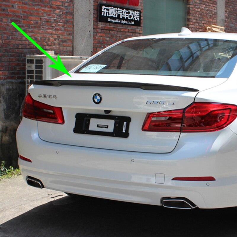 G30 530i 540i Modifié Performance Style Fiber De Carbone Arrière Bagages Compartiment Spoiler Aile De Voiture Pour BMW G30 2017UP