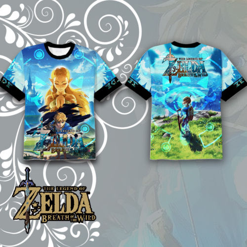 OHCOMICS Hot Game The Legend of Zelda Breath of the Wild Link Polyester T-shirt Tee Tops Summer Cosplay Costume Unisex Blouse