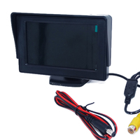 Auto Car Parking Set With 4 3 Desktop Display LCD Monitor 4 IR Light Waterproof Camera