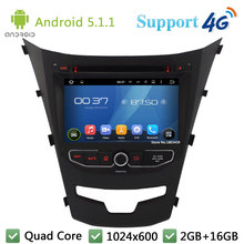 Quad Core 7″ 1024*600 2Din Android 5.1.1 Car DVD Video Player Radio Stereo FM DAB+ 3G/4G WIFI GPS Map For SsangYong Korando 2014