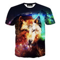 PLUS SIZE  2016 New Arrive American 3D Printed T-Shirt Tees Men Women Wolf Head 3d t shirt