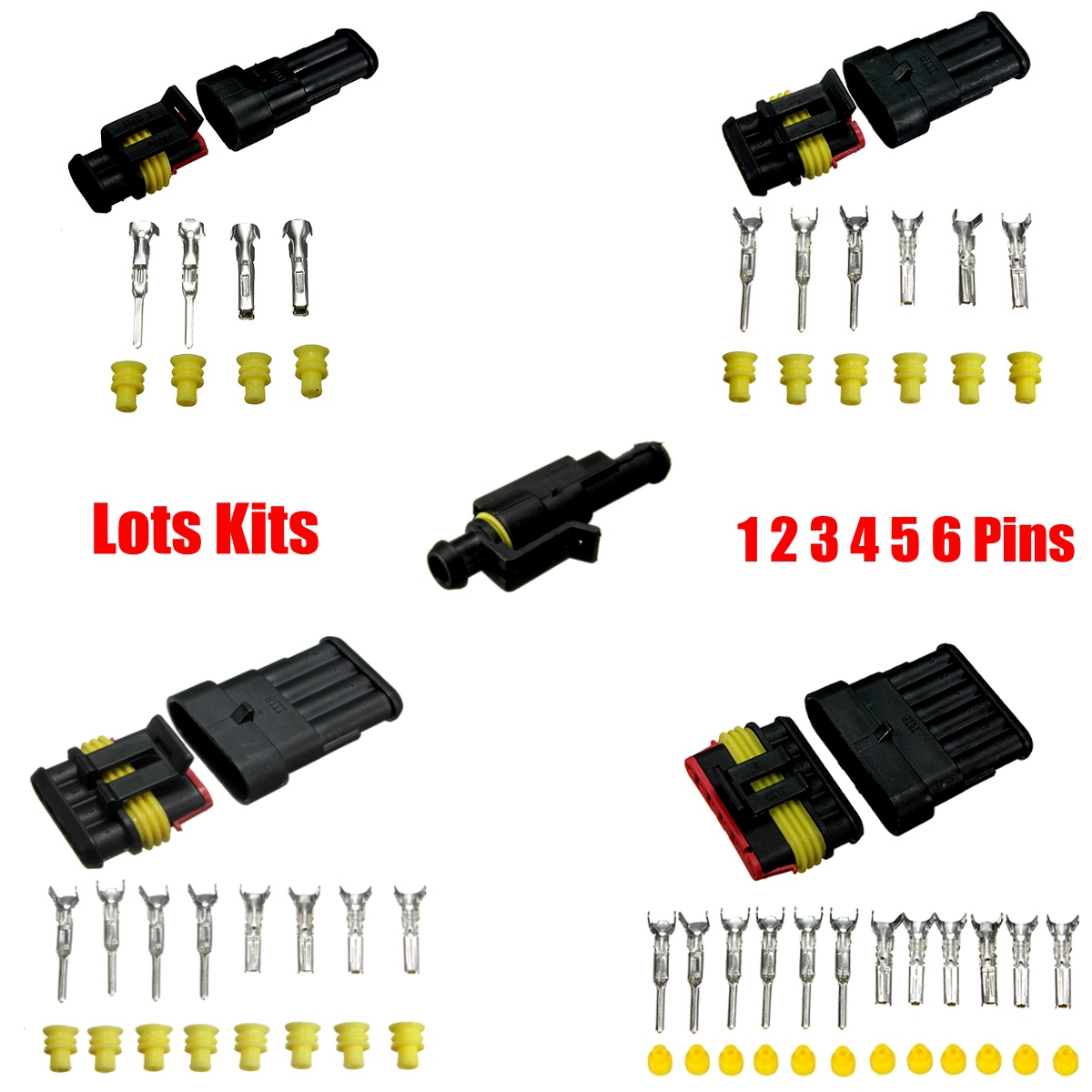 Car Suv Waterproof Electrical Connector Terminals 1//2//3//4//5//6 Pin Wire Way Fuses