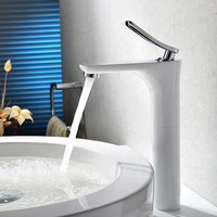 HSK lead free copper cold bench basin faucet bathroom faucet are leading white paint