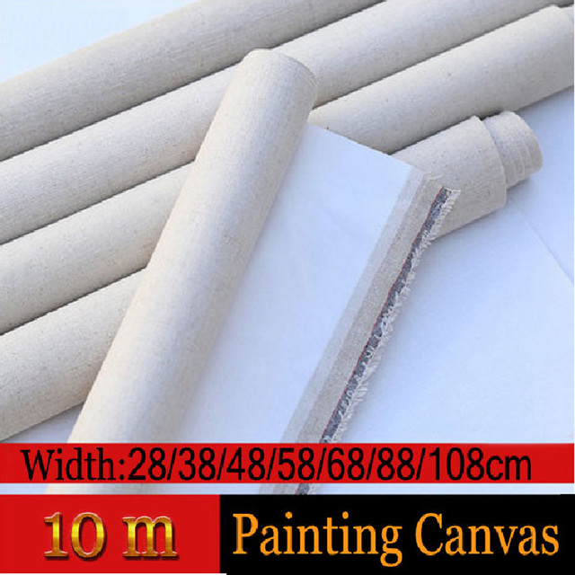 10m Linen Blend Primed Blank Canvas paper for painting Coarse-grained Oil Painting CanvasOil Painting Canvas paper