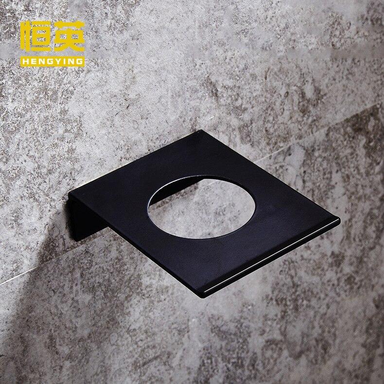 Boîte à savon en aluminium | Ensemble d'accessoires de salle de bain de style moderne Simple, peinture en aérosol, espace noir, vaisselle à savon créative en argent murale