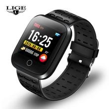LIGE New Sport Bracelet Smart Watch Men Women Heart Rate Blood Pressure Monitoring Fitness Tracker Band Pedometer