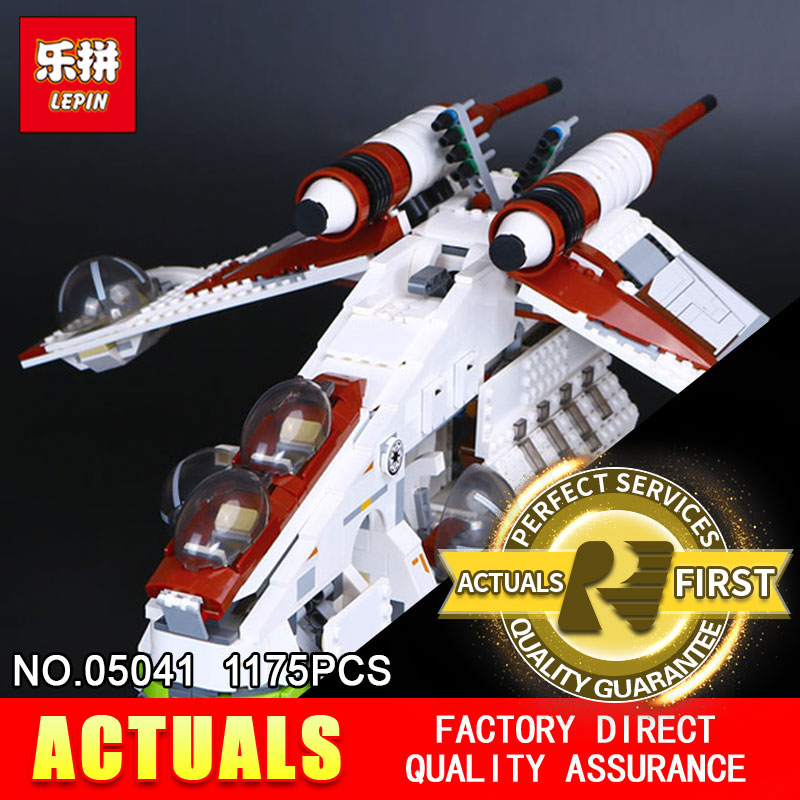 LEPIN 05041 STAR model 1175pcs Coruscant Police Gunship Compatible 75021 Building Blocks Bricks toy Model to Boys Gift WARS new bela 10377 star wars wookiee gunship model building blocks sets wullffwarro kanan bricks