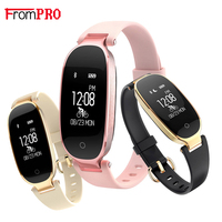 FROMPRO S3 Fashion Smart Band Bracelet Girl Women Heart Rate Monitor Wrist Lady Female Fitness Tracker Wristband for Android IOS
