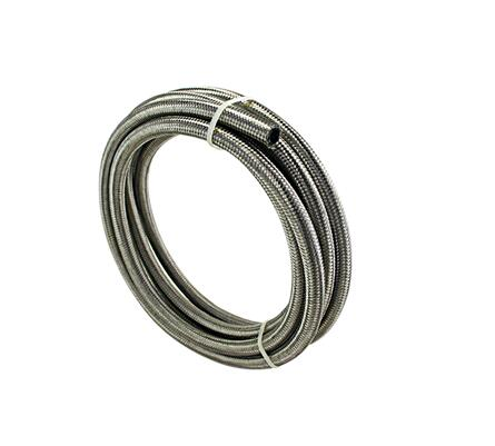 HT Racing Store STAINLESS STEEL BRAIDED 1500 PSI 8AN AN8 8 AN OIL/FUEL/GAS LINE/HOSE 5 Meters
