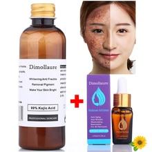 Dimollaure 30g pure Kojic Acid whitening cream+Hyaluronic acid serum removal Freckle Acne scar pigmentt melanin Wrinkle cream