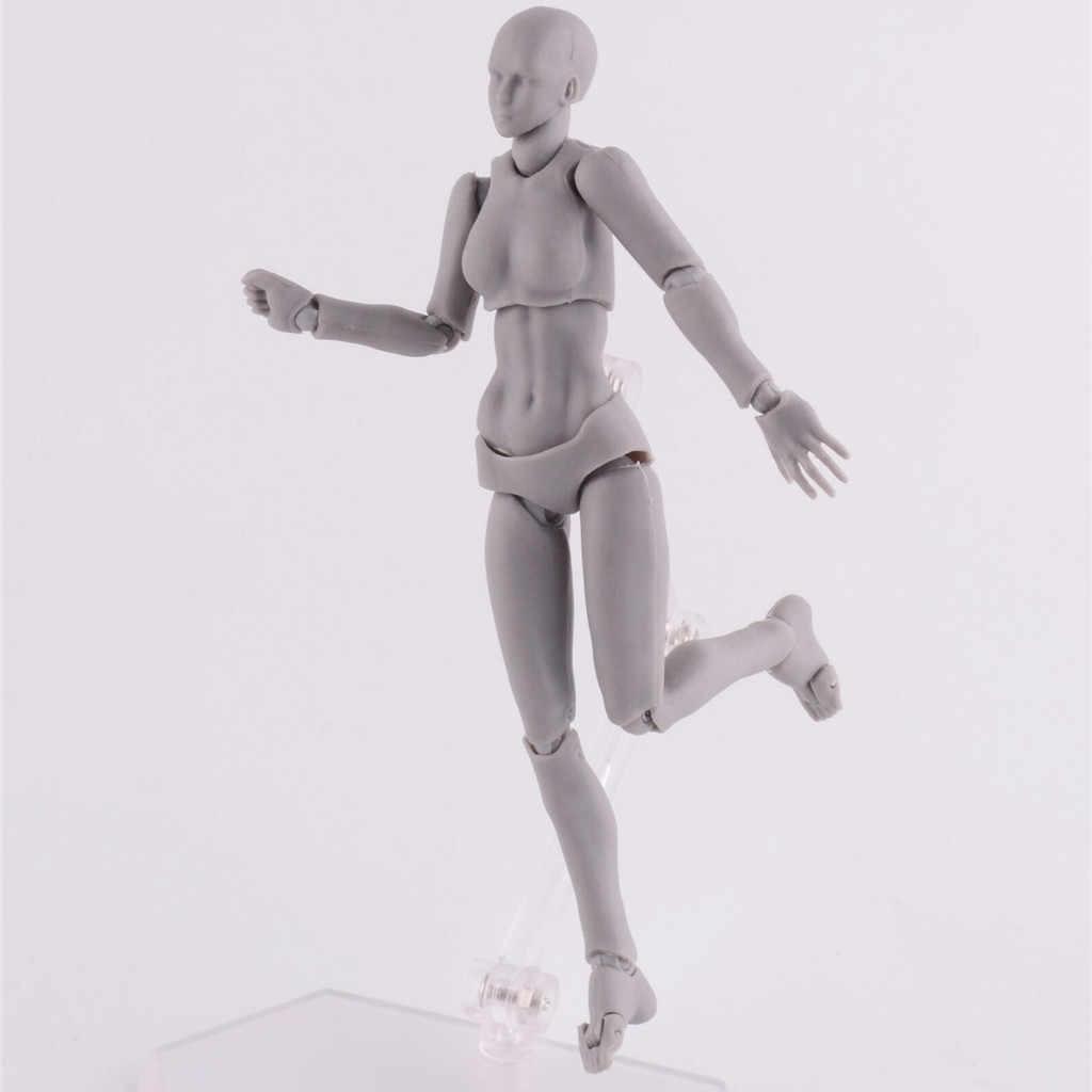 Jouets, dessin de figurines d'artistes, modèle commun, Mannequin humain bjd Art, Anime, homme et femme, 15cm