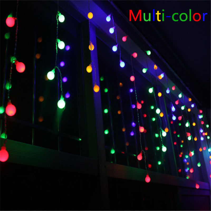 Novelty 96 LED 4M Globe Connectable Festoon Party Ball String Lamps Led Christmas Lights Fairy Wedding Garden Pendant Garland