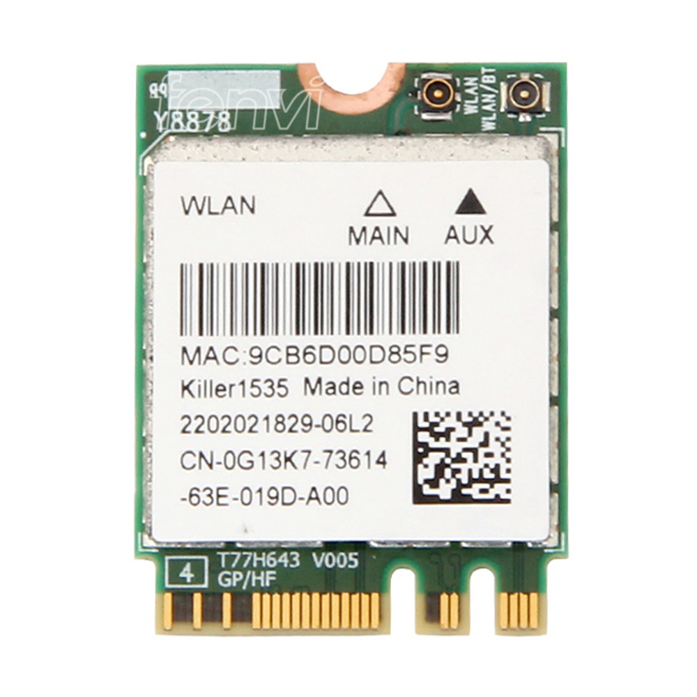 Fenvi For Bigfoot Killer Wireless-AC 1535 Atheros QCNFA364A NGFF Dual Band Killer1535 802.11ac M.2 Wireless Card+Bluetooth 4.1