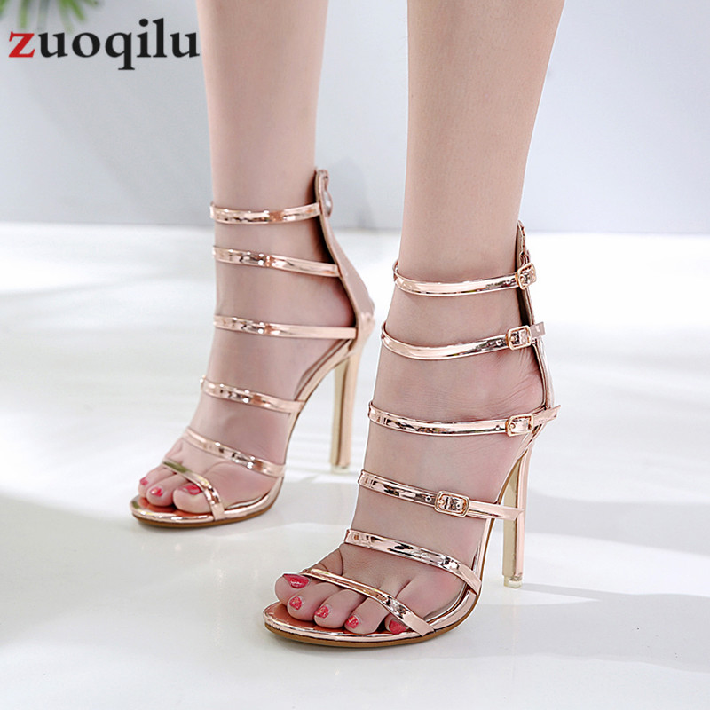 <font><b>sexy</b></font> gold wedding woman <font><b>shoes</b></font> high heel sandals 2019 buckle fish mouth high heels <font><b>11</b></font> CM ladies <font><b>shoes</b></font> pumps women <font><b>shoes</b></font> sandalia image