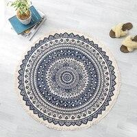 Mandala Round floor rugs living room bedroom carpet bedroom carpet door mat Decorate House Area Cotton Hand Made boho Rug