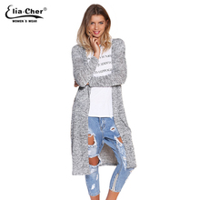Cardigan 2017 Open Stitch Women Sweater Slim Lady Winter Long Knitted Cardigans Tops Brand Plus Size Casual Poncho Women Sweater