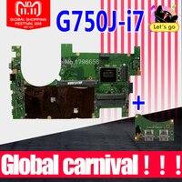 Отправить доска + 2D G750JS G750JM материнская плата для ноутбука ASUS G750JS G750JM G750JW G750JH G750JX G750J G750 Тесты оригинальная материнская плата