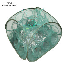 new shrimp cage 5/9 holes fishing network loach net outdoor red de pesca cages accessories pescaria