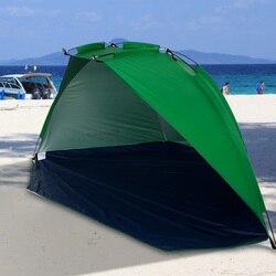 سريعة افتتاح خيمة الشاطئ المظلة الشمس المأوى نصف مفتوحة للماء خيمة الظل خفيفة ل في الهواء الطلق التخييم الصيد نزهة حديقة