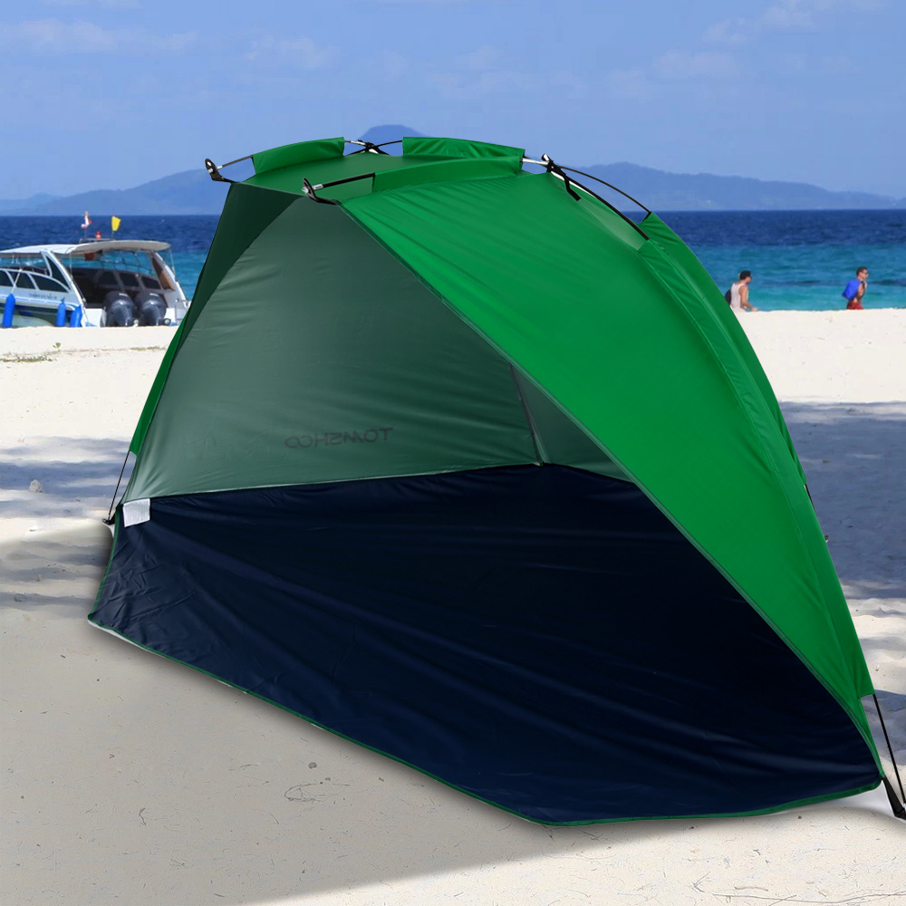 quick opening tent beach awning sun shelter half open waterproof tent shade ultralight for. Black Bedroom Furniture Sets. Home Design Ideas