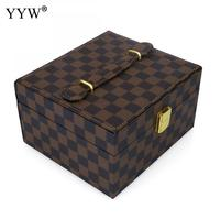 High Quality Luxury PO Leather Box Jewelry Box For Women Multi Purpose Display Box With Velveteen Rectangle Fashion Jewelry Box