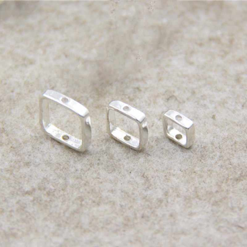 BASEHOME 2pcs Spacer Bead 925 Sterling Silver Spacer Beads Positioning Circle Jump Rings For Jewelry Making DIY