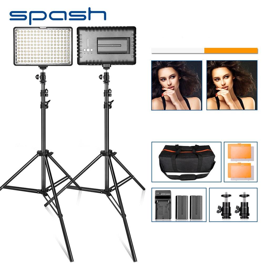 Spash hurtownia TL-160S oświetlenie fotograficzne światło LED do kamery oświetlenie do fotografii z stojak trójnóg hiszpania usa RU AU dostawa magazynu