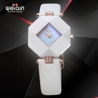 New Original Women Fashion Watches 2016 Luxury Brand WEIQIN Female Quartz Watch Waterproof 50M Ceramic Wristwatch Gift Relogios