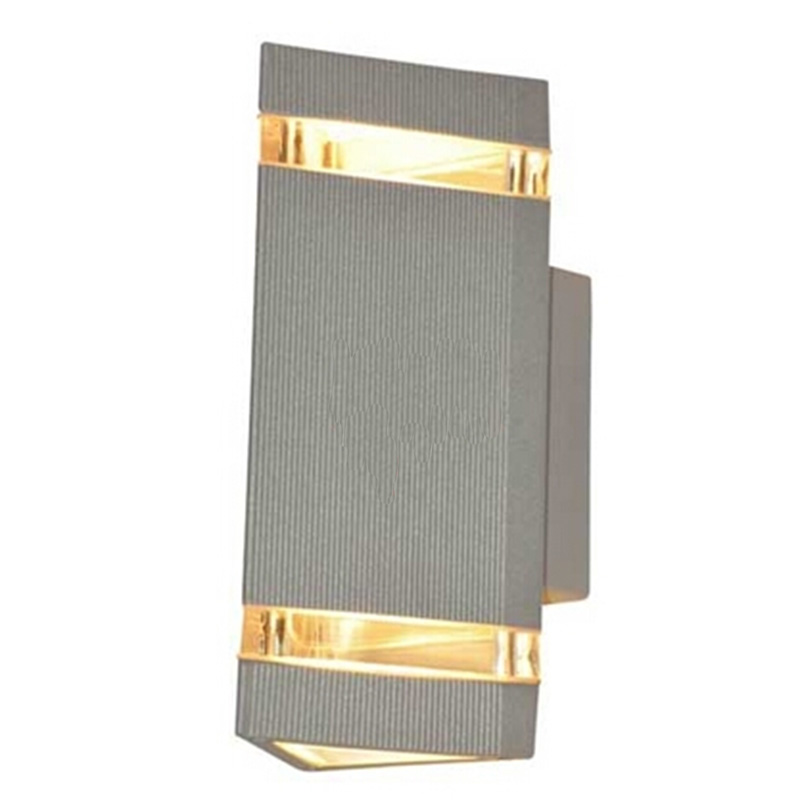 ФОТО Up and Down Led Waterproof Wall Outdoor Light Aluminum Wall Lamp Brief Led Garden Exterior Lights GU10 8W Luminaria De Parede