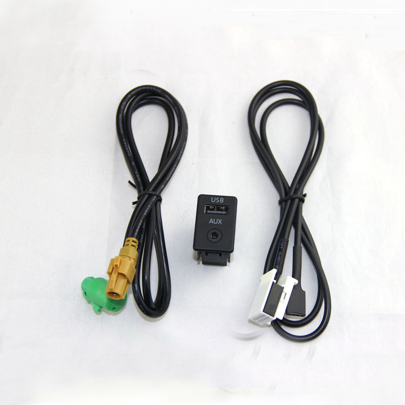usb aux switch cable rcd510 rns510 usb version fit for. Black Bedroom Furniture Sets. Home Design Ideas