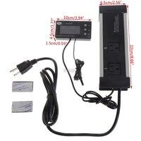 LCD Reptiel Digitale Repile Thermostaat Temperatuurregeling Warmte Cool US EU Plug M13 dropship