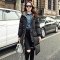 Estação europeu 2015 nova moda mulheres jaqueta de inverno senhoras quente Overknee engrossar Doudoune Femme Marque