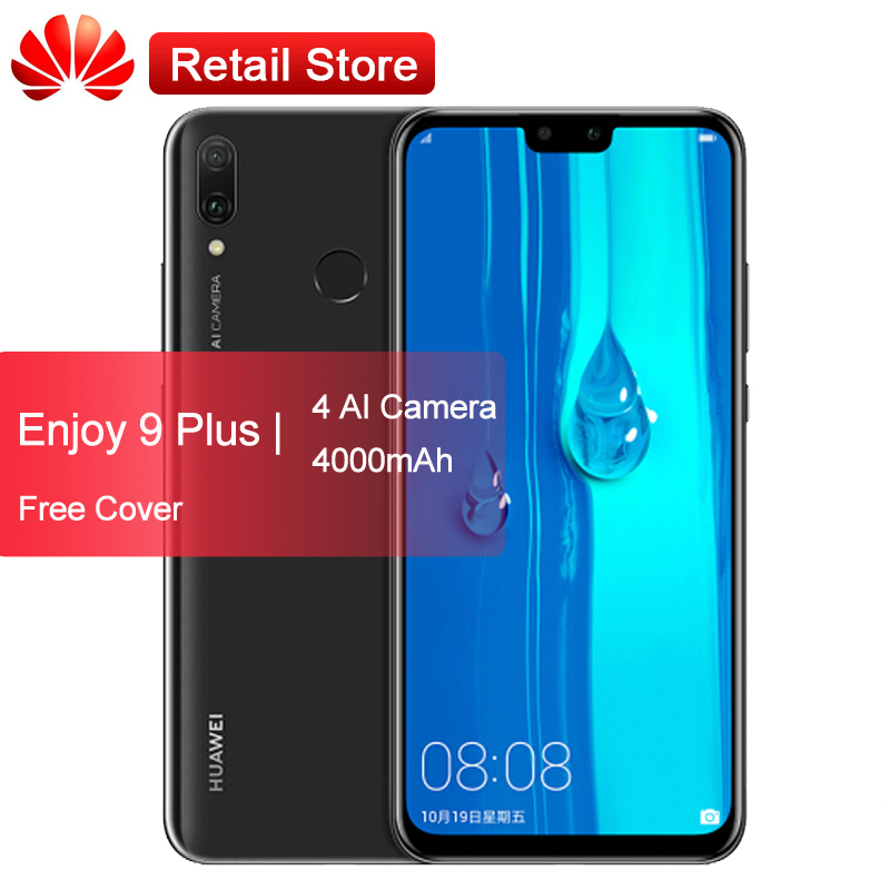 "Global Firmware Huawei Y9 2019 4000mAh Mobile Phone 6.5"" Kirin 710 Octa Core Android 8.1 Four AI Camera Fingerprint 4GB 64GB"