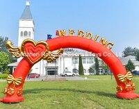 8 м (26 футов) надувные Flying Heart Свадебные Арки Арка С CE Air Воздуходувы