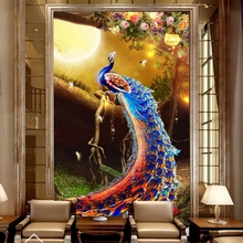 Bacaz Peacock Wallpaper Papel Mural 8d 3d Wall Mural Wall Paper For Sofa Background 3d Wall Photo Mural 3d Wallcoverings Buy Inexpensively In The Online Store With Delivery Price Comparison Specifications Photos